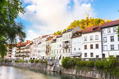 Medieval houses of Ljubljana, Slovenia, Europe. — Stock Photo