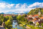 Panorama de Liubliana, Eslovênia, Europa. — Fotografia Stock