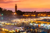 Jamaa el Fna, Marrakesh, Morocco. — Stock Photo
