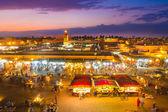 Jamaa el Fna, Marrakesh, Morocco. — Stock Photo