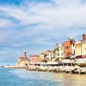 Picturesque old town Piran, Slovenia. — Stock Photo