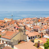 Picturesque old town Piran, Slovenia. — Stockfoto