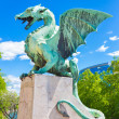Dragon bridge, Ljubljana, Slovenia, Europe. — Stock Photo