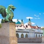 Dragon bridge, Ljubljana, Slovenia, Europe. — Stock Photo #47215281