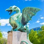 Dragon bridge, Ljubljana, Slovenia, Europe. — Stock Photo #47215367