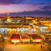 Piazza Jamaa el fna, Marrakech, Marocco. — Foto Stock