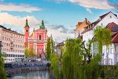 ロマンチックな中世リュブヤナ、スロベニア、ヨーロッパ. — ストック写真