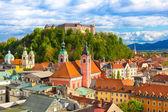 Panorama de ljubljana, Slovénie, europe. — Photo