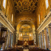 Basilica di Santa Maria in Trastevere, Rome, Italy. — Stock Photo