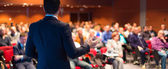 Speaker at Business Conference and Presentation. — Stock Photo