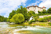 Zuzemberk Castle, Slovenian tourist destination. — ストック写真