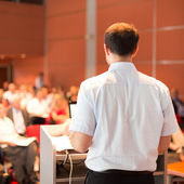 Academic professor lecturing at the faculty. — Stock Photo