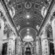 Interior of St. Peters Basilica, Vatican, Rome, Italy. — Stock Photo #50141619
