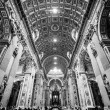 Interior of St. Peters Basilica, Vatican, Rome, Italy. — Stock Photo #50142291