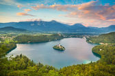 Bled Lake in Julian Alps, Slovenia. — Stock Photo