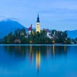 Bled Lake in Julian Alps, Slovenia. — Stock Photo #50712007