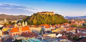 Panorama of Ljubljana, Slovenia, Europe. — Stock Photo