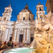 Plaza navona en roma, italia. — Foto de Stock