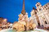 Navona square in Rome, Italy. — Stock Photo
