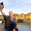 Lady taking selfie in Florence. — Stock Photo #51515369