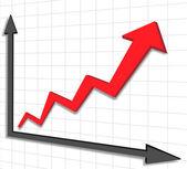 Vector business graph — Stock Vector