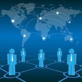 Vector social network — Stock Vector