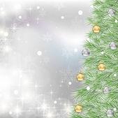 Vector white christmas background — Stock Vector