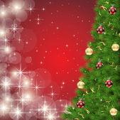 Vektor-Weihnachtsbaum — Stockvektor