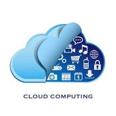 Vector cloud computing and applications — Stock Vector