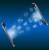 Vector smart phone communication technology — Stock Vector
