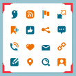Royalty-Free Stock Photo: Social icons In a frame series