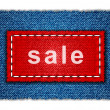 Sale jeans banner — Stock Photo