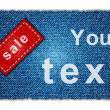 Sale jeans banner - Stock Photo