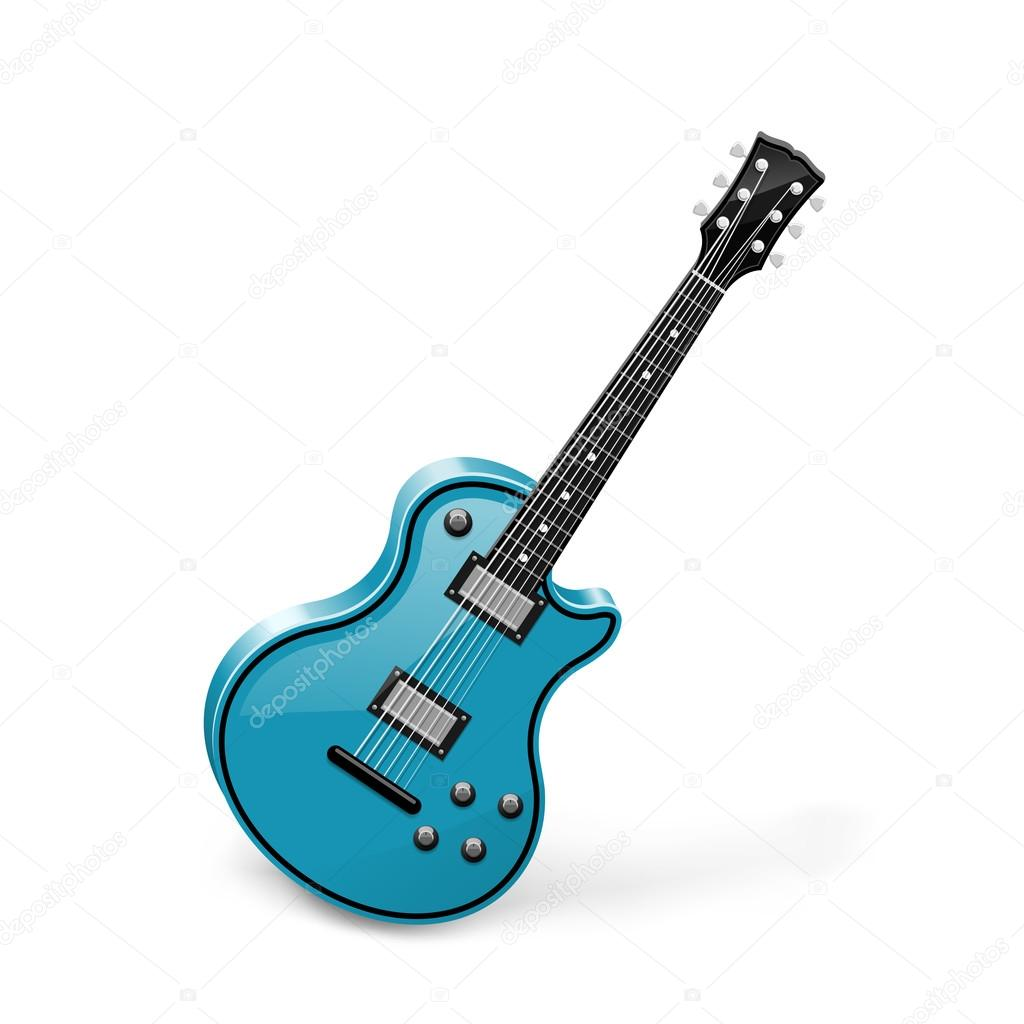 Guitar vector isolated on white — Stock Photo #13272271