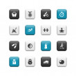 Fitness buttons — Stockfoto