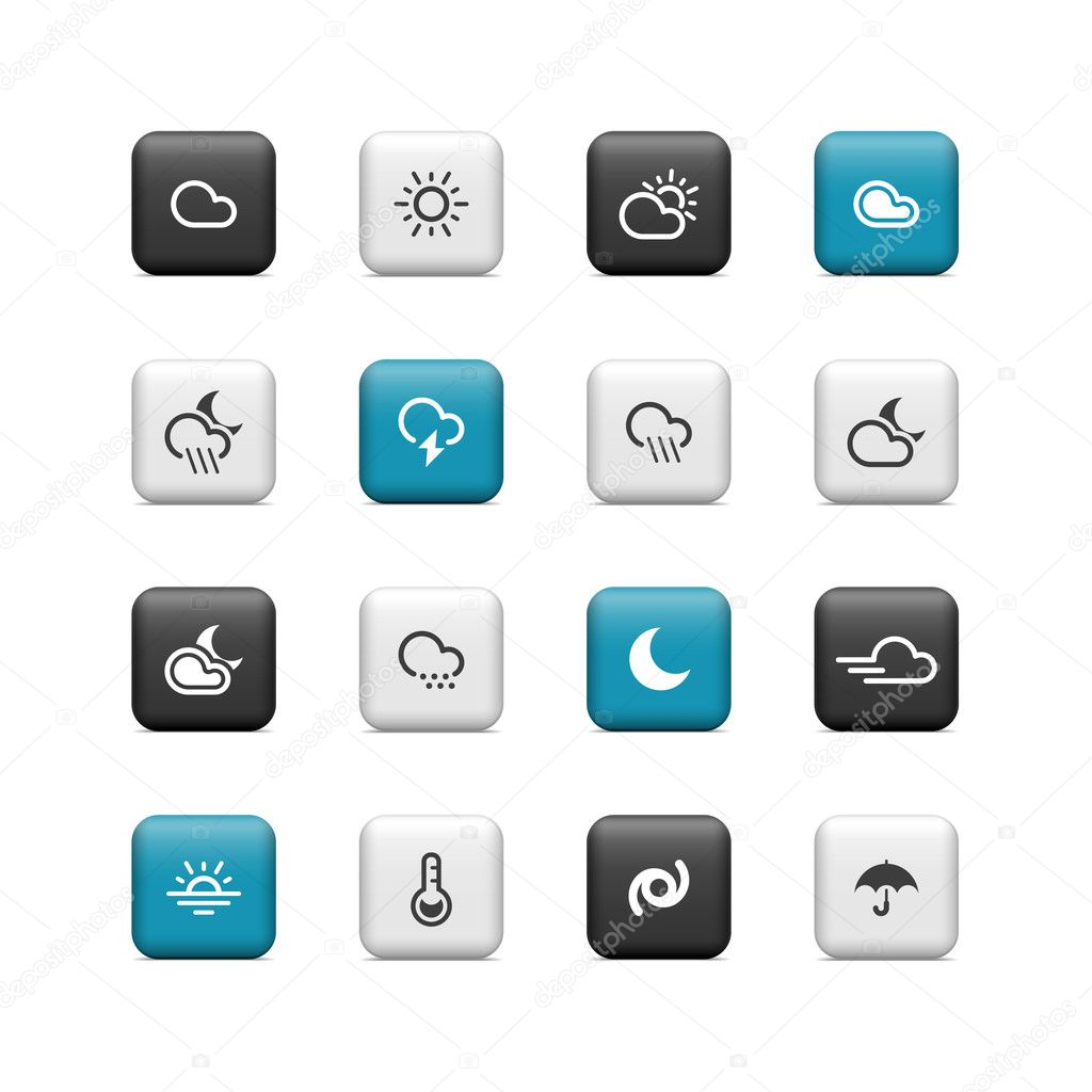 Weather buttons — Stock Photo #14238211