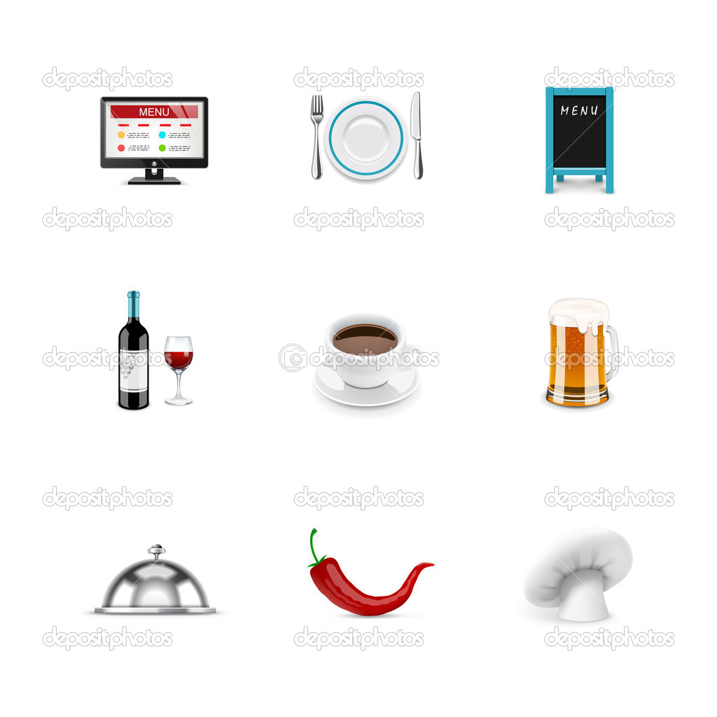 Food and restaurant icons — Stock Photo #19616441