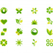 Ecology leaves and symbols — Stock Photo