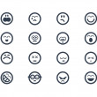 Smile icons — Stock Photo