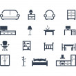 Furniture icons — Stock Photo