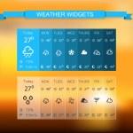 Weather widget — Stock Photo