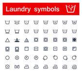 Laundry symbols — Stock Photo