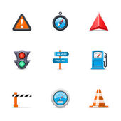 Traffic icons — Stock Vector