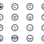Emoticon icons — Stock Vector
