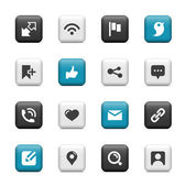 Communication and social icons — Stock Vector