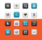 Interent i blog ikony — Wektor stockowy