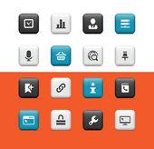 Internet-pictogrammen — Stockvector