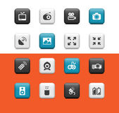 Multimedia icons — Stock Vector