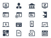 Online banking icons — Stock Vector