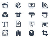 Printing icons — Vetorial Stock